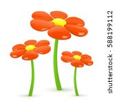 flower. vector illustration. | Shutterstock .eps vector #588199112