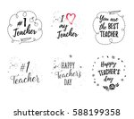 happy teacher's day labels ... | Shutterstock .eps vector #588199358