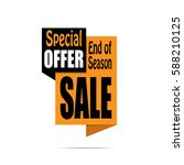 sale banner. yellow and black... | Shutterstock .eps vector #588210125