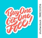 buy one get one free  | Shutterstock .eps vector #588210356