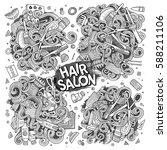 vector hand drawn doodle... | Shutterstock .eps vector #588211106