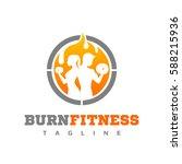 burn fitness logo | Shutterstock .eps vector #588215936