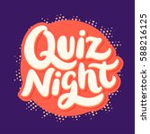 quiz night banner. | Shutterstock .eps vector #588216125