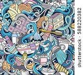 cartoon cute doodles hand drawn ... | Shutterstock .eps vector #588220382
