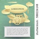 vintage paper steam punk...   Shutterstock .eps vector #588226148