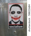Постер, плакат: Controversial Socialist Joker Obama