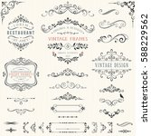 ornate vintage design elements... | Shutterstock .eps vector #588229562