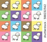 lamb | Shutterstock . vector #588232562