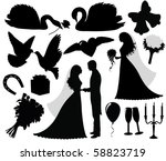 collection of a wedding... | Shutterstock .eps vector #58823719