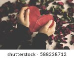broken heart sadness... | Shutterstock . vector #588238712