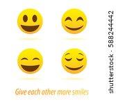 vector creative style smiles... | Shutterstock .eps vector #588244442
