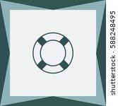 lifebuoy  vector icon. | Shutterstock .eps vector #588248495
