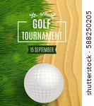 golf tournament poster template.... | Shutterstock .eps vector #588250205
