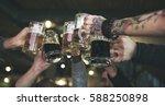 craft beer booze brew alcohol... | Shutterstock . vector #588250898