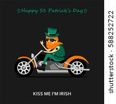 st. patrick's day greeting card ... | Shutterstock .eps vector #588252722