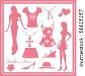 women's fashion icons set   Shutterstock .eps vector #58825357