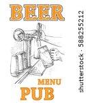 beer in the hand and beer tap...   Shutterstock .eps vector #588255212