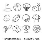 set of sport icons. thin... | Shutterstock .eps vector #588259706