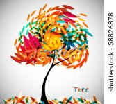 abstract colorful tree   Shutterstock .eps vector #58826878