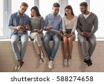 group of beautiful young people ...   Shutterstock . vector #588274658