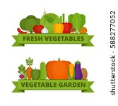 vegetables collection. organic... | Shutterstock .eps vector #588277052