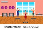 fitness people in sports wear....   Shutterstock .eps vector #588279062