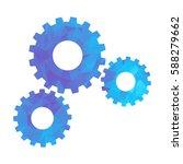 blue modern polygonal icon for... | Shutterstock .eps vector #588279662