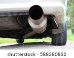 car with sport exhaust | Shutterstock . vector #588280832