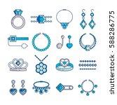 set of vector jewelry line... | Shutterstock .eps vector #588286775