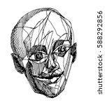 surrealistic sketch. surreal... | Shutterstock .eps vector #588292856