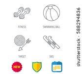 sport fitness  swimming ball...   Shutterstock .eps vector #588294836
