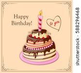 festive colorful  birthday card ... | Shutterstock . vector #588296468