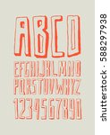 graphic font for your design.... | Shutterstock .eps vector #588297938