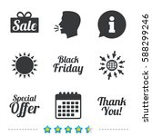 sale icons. special offer and... | Shutterstock .eps vector #588299246
