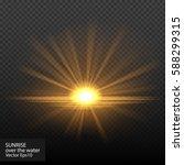 bright shining sun star.... | Shutterstock .eps vector #588299315