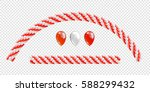 garlands of balloons. red and... | Shutterstock .eps vector #588299432