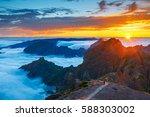 beautiful sunset over the... | Shutterstock . vector #588303002