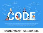 code concept illustration of... | Shutterstock .eps vector #588305636