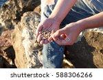 Fisherman Showing Maggot