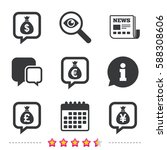 money bag icons. dollar  euro ... | Shutterstock .eps vector #588308606