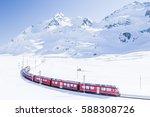 bernina express in winter ...   Shutterstock . vector #588308726