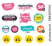 sale shopping banners. special... | Shutterstock .eps vector #588309542
