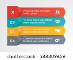 steps infographic banner with... | Shutterstock .eps vector #588309626