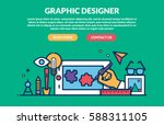 graphic designer concept for... | Shutterstock .eps vector #588311105