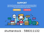 support concept for web page.... | Shutterstock .eps vector #588311132