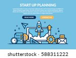 start up planning concept for... | Shutterstock .eps vector #588311222