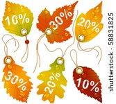 Autumnal Discount. Vector Fall...