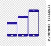 smartphones with three sizes... | Shutterstock .eps vector #588320186