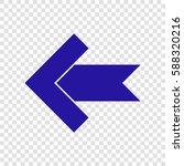left arrow icon. vector. blue...