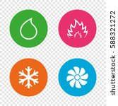 hvac icons. heating ... | Shutterstock .eps vector #588321272